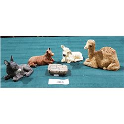 5 SANDY CAST BABES OF BETHLEHEM FIGURES