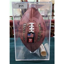 H.O.F.(HALL OF FAME) FRANCO HARRIS (PITTSBURG STEALERS) SIGNED FOOTBALL W/C.O.A.