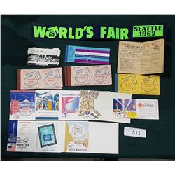 COLLECTION OF 1962 SEATTLE WORLDS FAIR MEMORAEILIA