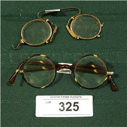 2 ANTIQUE PAIRS OF SPECTACLES