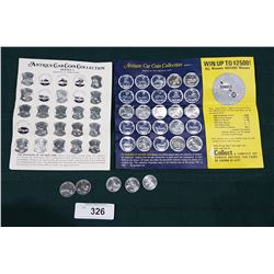 SUNOCO ANTIQUE CAR COIN COLLECTION