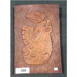 NATIVE CARVED WALL PLAQUE