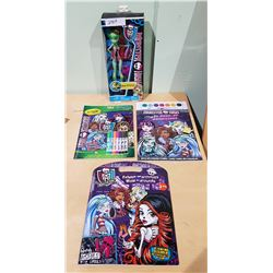 NIB MONSTER HIGH DOLL & NEW COLLECTIBLES
