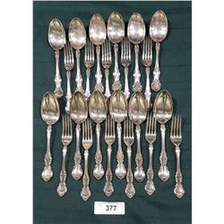 APPROX 23 PCS OF WALLACE SILVER PLATE FLATWARE