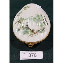 LIMOGES CLAM SHELL VANITY BOX
