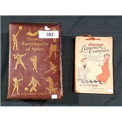 1938 LIMERICK CALENDAR AND VINTAGE PICTORIAL ENCYCLOPEDIA OF SPORTS