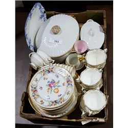 BOX LOT OF COLLECTIBLE CHINA