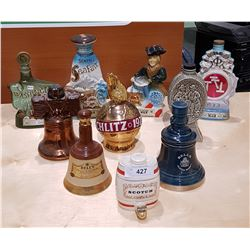 10 VINTAGE COLLECTIBLE JIM BEAM DECANTERS