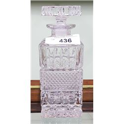 CUT TO CRYSTAL WHISKEY DECANTER