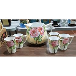 6 PIECE JAPANESE PORCELAIN HOT CHOCOLATE SET