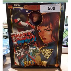 "NEW IN BOX MARVEL FAMOUS COVER SERIES BLACK WIDOW 8"" ACTION FIGURE"