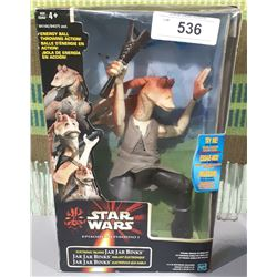 STAR WARS ELECTRONIC TALKING JAR JAR BINKS ACTION FIGURE NEW IN BOX