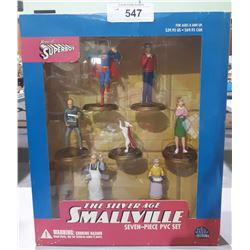 NEW IN BOX THE SILVERAGE SMALLVILLE 7 PC PVC SET