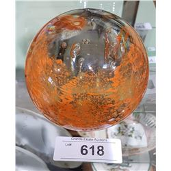 LARGE ART GLASS PAPER WEIGHT