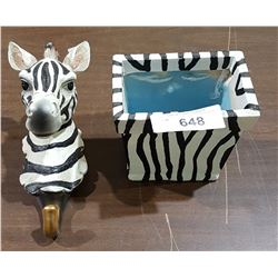 ZEBRA WALL HOOK & PLANTER