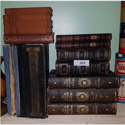 COLLECTION 13 VINTAGE/ANTIQUE BOOKS