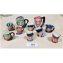 TEN ROYAL DOULTON CHARACTER MUGS