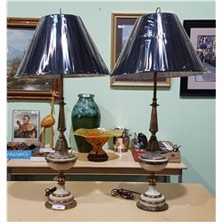 PAIR VINTAGE STIFLE TABLE LAMPS