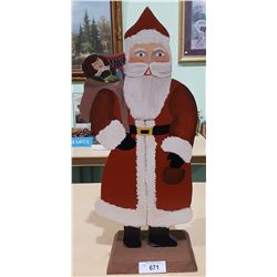 VINTAGE HAND PAINTED WOOD SANTA
