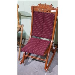 ANTIQUE EASTLAKE STYLE FOLDING ROCKER