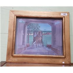GILT FRAMED PRINT BY ERMA W. HOOVER