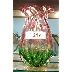 TWO-TONE ART GLASS VASE