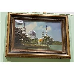 GILT FRAMED 3D PANEL- EUROPEAN SCENE