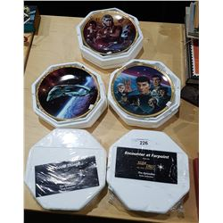 FIVE HAMILTON COLLECTION STAR TREK COLLECTOR PLATES