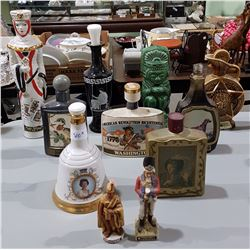 ELEVEN VINTAGE COLLECTIBLE JIM BEAM DECANTERS