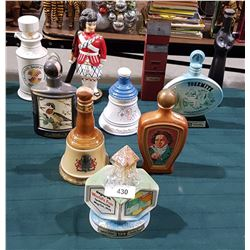 TEN VINTAGE COLLECTIBLE JIM BEAM DECANTERS