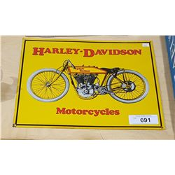 HARLEY DAVIDSON EMBOSSED TIN SIGN
