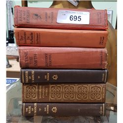 SIX VINTAGE/ANTIQUE BOOKS