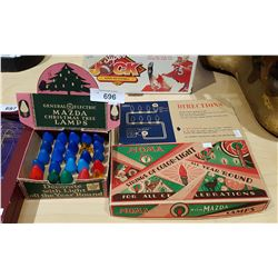 THREE BOXES VINTAGE CHRISTMAS LIGHTS