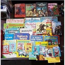 APPROX 34 VINTAGE CHILDREN'S BOOKS