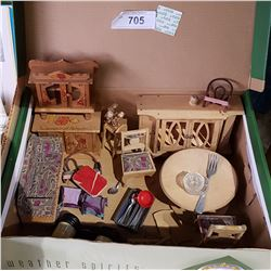 COLLECTION OF DOLL FURNITURE