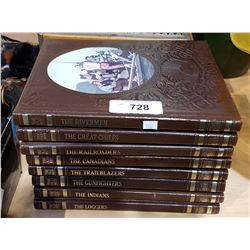EIGHT LEATHER BOUND VOLUMES OF THE OLD WEST SERIES BY TIMELIFE