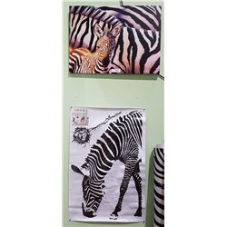 ZEBRA CANVAS PRINT & WALL DECAL