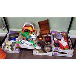 5 BOX LOTS OF COLLECTIBLES