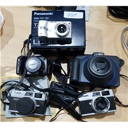 FIVE COLLECTIBLE VINTAGE CAMERAS