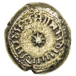 ARAB-BYZANTINE of SPAIN: Anonymous, 712-714, AV solidus (4.89g), AH94, Indiction XI. VF