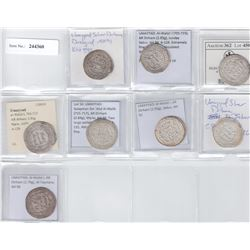 UMAYYAD: LOT of 8 silver dirhams in better grades