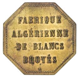 ALGERIA: brass 5 francs, ND. UNC