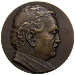 EGYPT: Fuad I, 1922-1936, lightly oxidized AE medal (107.59g), 1936. EF