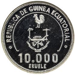EQUATORIAL GUINEA: Republic, AR 10,000 ekuele, ND (1979). NGC PF69