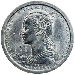 MADAGASCAR: 2 francs, 1948. PCGS SP64
