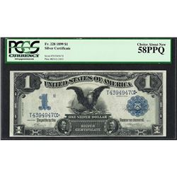 1899 $1 Black Eagle Silver Certificate Note Fr.228 PCGS Choice About New 58PPQ