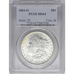 1884-O $1 Morgan Silver Dollar Coin PCGS MS63 Amazing Reverse Toning