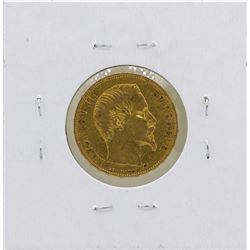 1858-A France 20 Francs Gold Coin