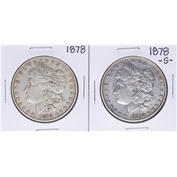 Lot of 1878 & 1878-S $1 Morgan Silver Dollar Coins