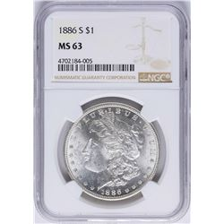 1886-S $1 Morgan Silver Dollar Coin NGC MS63
